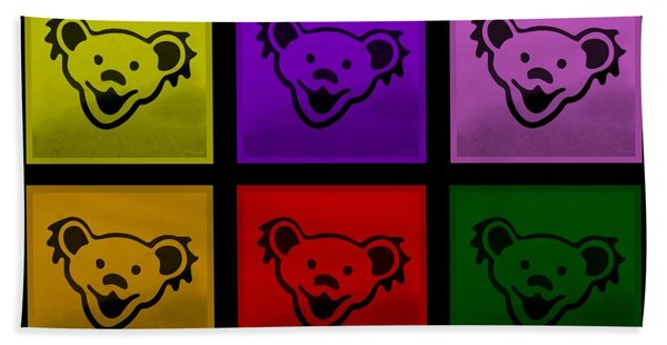 Greatful Dead Dancing Bears In Multi Colors Bath Towel