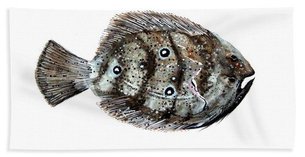 Gulf Flounder Hand Towel