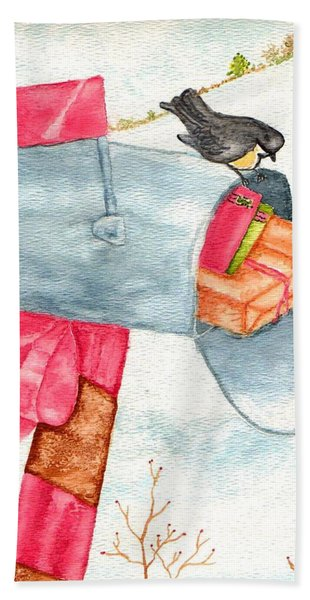 Holiday Mail Hand Towel