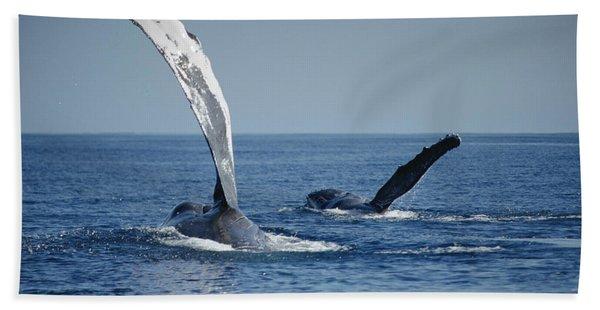 Humpback Whale Pectoral Slap Maui Bath Towel