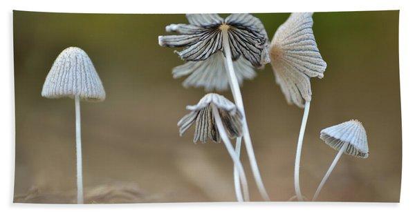 Ink-cap Mushrooms Bath Towel