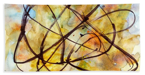 Inverno Abstract Watercolor Hand Towel