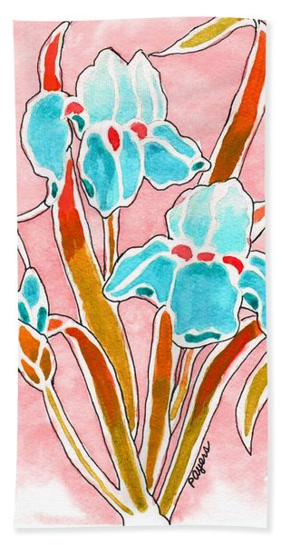 Irises With An Attitude Hand Towel