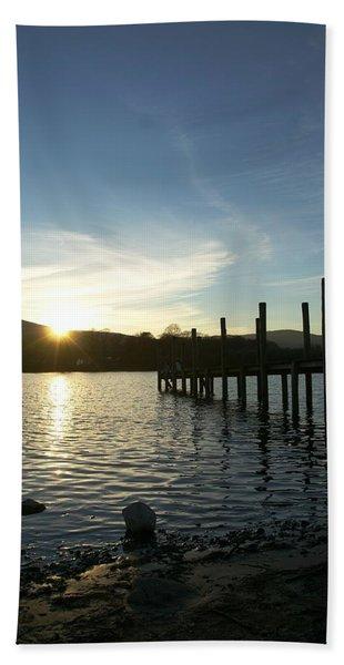 Lake District Sunset Hand Towel