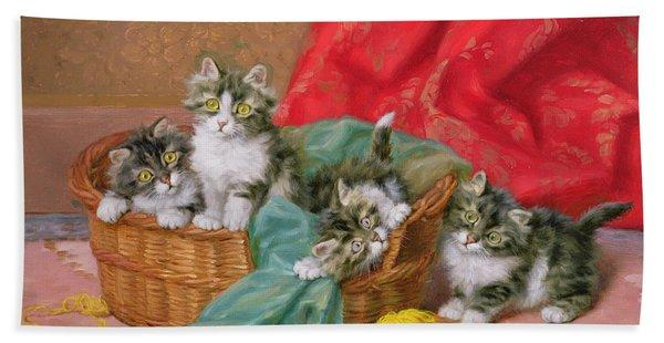 Mischievous Kittens Bath Towel