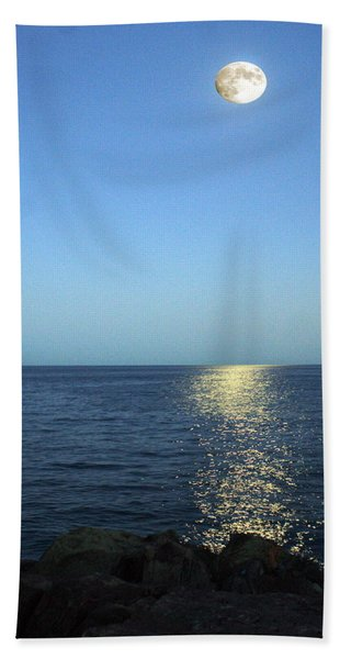 Moon And Water Hand Towel