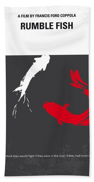 No073 My Rumble Fish Minimal Movie Poster Hand Towel