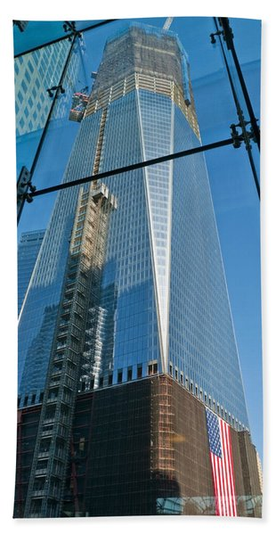 One Wtc Rising Hand Towel