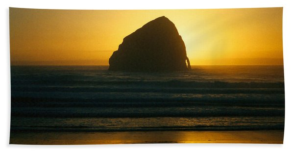 Pacific City Sunset Hand Towel