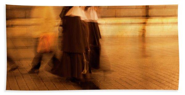 Bath Towel featuring the photograph Piety In Motion by Lorraine Devon Wilke