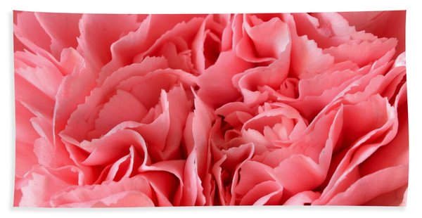 Pink Carnation Hand Towel