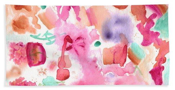 Pink Love Hand Towel
