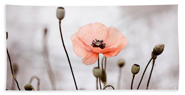 Red Corn Poppy Flowers 01 Bath Towel