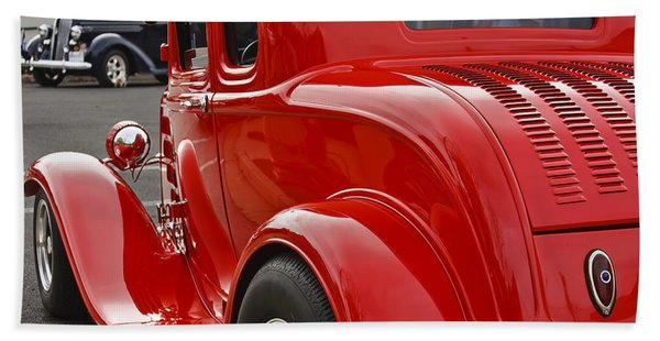 Red Coupe Hand Towel