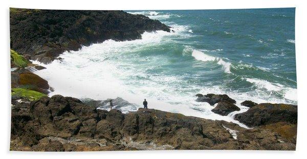 Rocky Ocean Coast Hand Towel