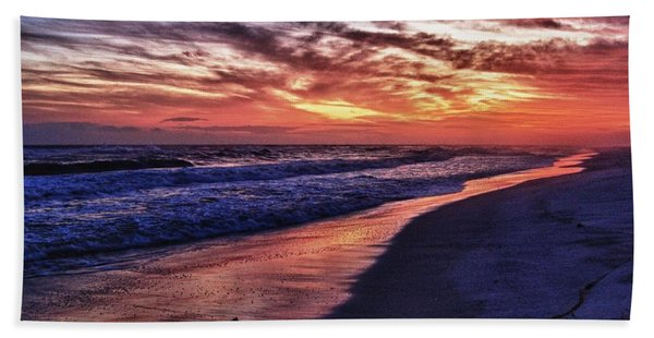 Romar Beach Sunset Bath Towel