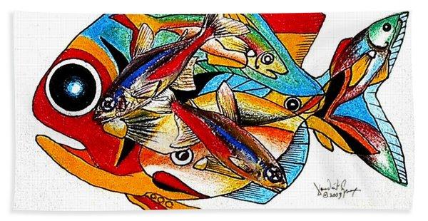 Seven Fish Hand Towel
