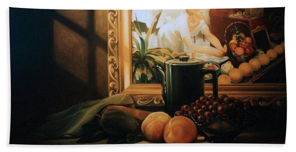 Still Life With Hopper Hand Towel