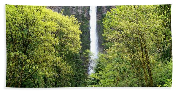 Summer At Multnomah Falls Hand Towel