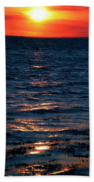 Bath Towel featuring the photograph Sunset Denmark Samsoe Island by Colette V Hera  Guggenheim