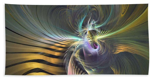 The Vortex - Abstract Art Bath Towel