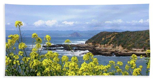 Bath Towel featuring the photograph Through Yellow Flowers by Lorraine Devon Wilke