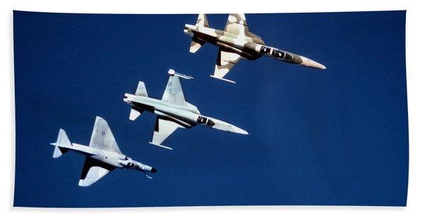 Two F-5 Tiger IIs And An A-4e Skyhawk Bath Towel