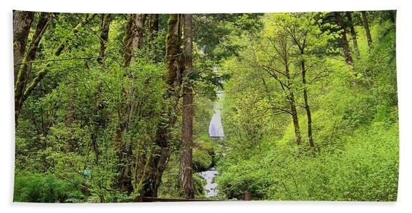 Wahkeena Falls Rain Forest Bath Towel