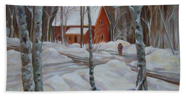 Winter In The Woods Hand Towel