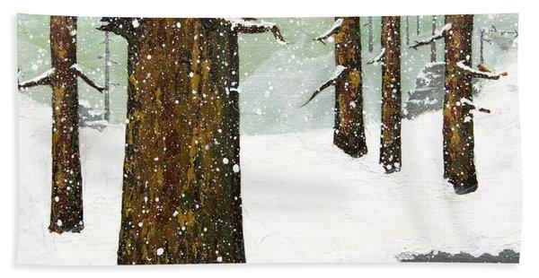 Wintering Pines Bath Towel