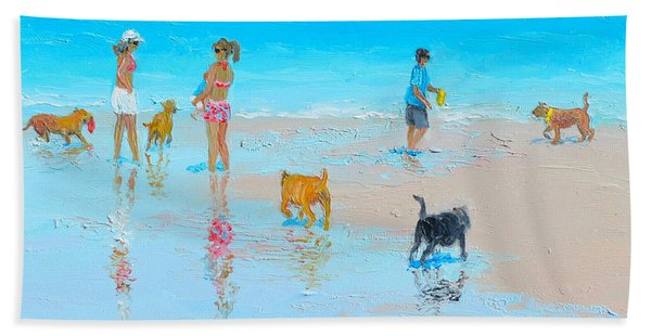 Dog Beach Day Hand Towel