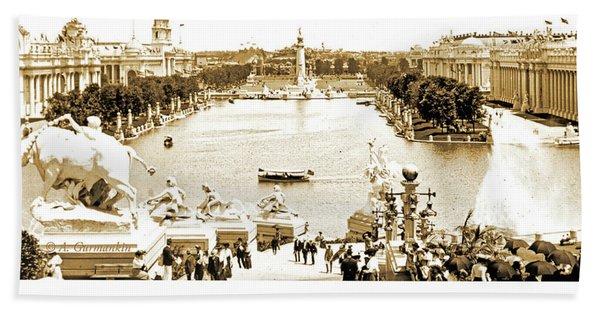 1904 World's Fair, Grand Basin View From Festival Hall Bath Towel