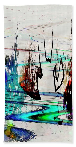 Hand Towel featuring the painting Abstract 1001 by Gerlinde Keating - Galleria GK Keating Associates Inc