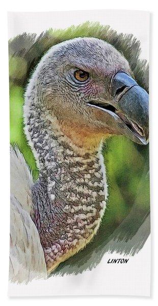 African Griffon Vulture Hand Towel