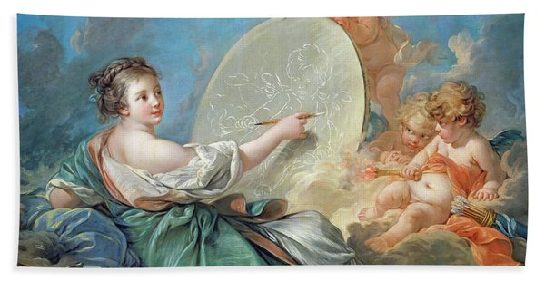 Allegory Of Painting Bath Towel