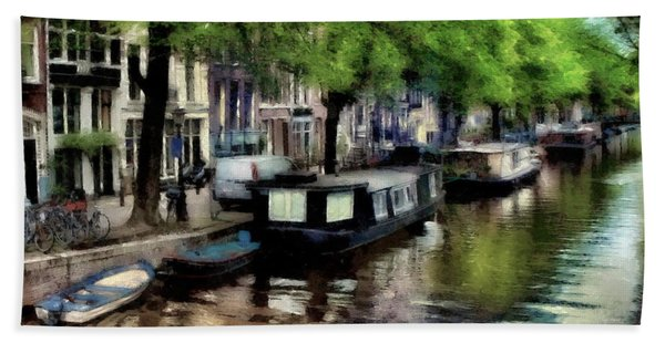 Amsterdam Canals Hand Towel