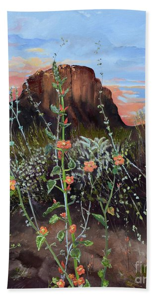 Arizona Desert Flowers-dwarf Indian Mallow Hand Towel