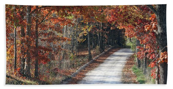 Autumn Drive Bath Towel