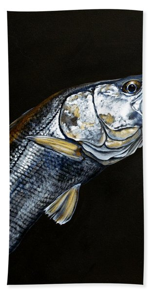 Caught In The Surf Snook Hand Towel