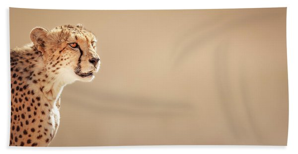 Cheetah Portrait Bath Towel