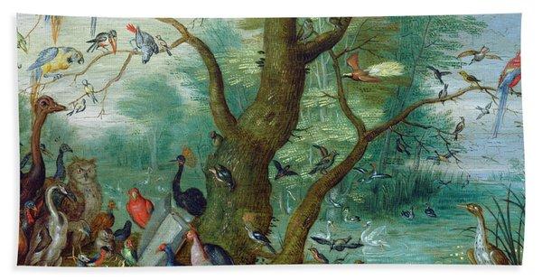 Concert Of Birds Bath Towel