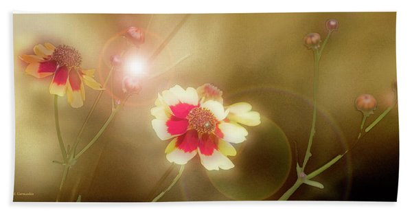 Coreopsis Flowers And Buds Hand Towel
