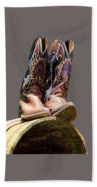 Cowboy Boots  Bath Towel