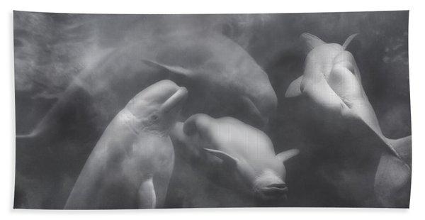 Dancing Belugas  Bath Towel