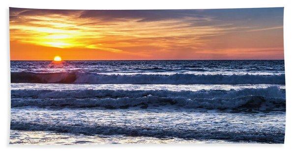 Sunset - Del Mar, California View 1 Hand Towel