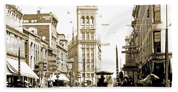 Downtown Milwaukee, C. 1915-1920, Vintage Photograph Hand Towel