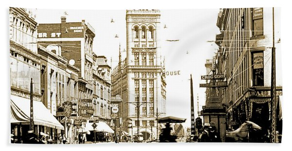 Downtown Milwaukee, C. 1915-1920, Vintage Photograph Bath Towel