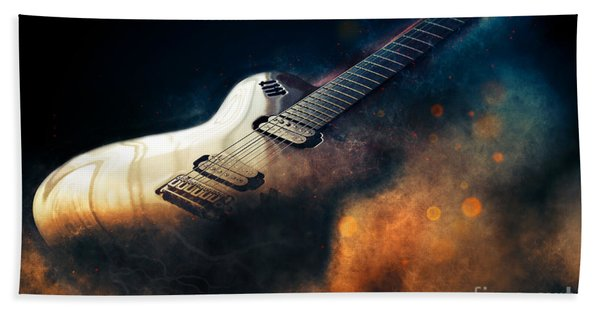 Electric Guitar Art Hand Towel