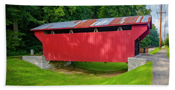 Feedwire Covered Bridge - Carillon Park Dayton Ohio Bath Towel