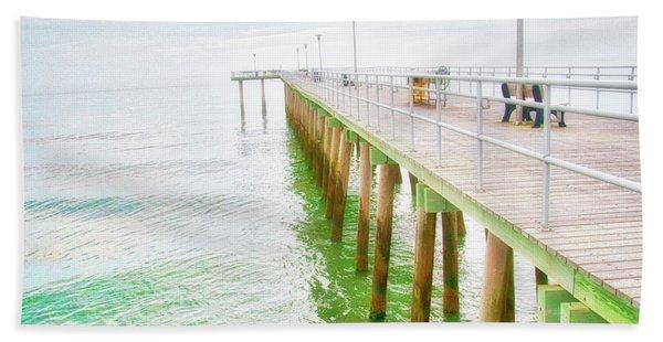 Fishing Pier, Margate, New Jersey Bath Towel